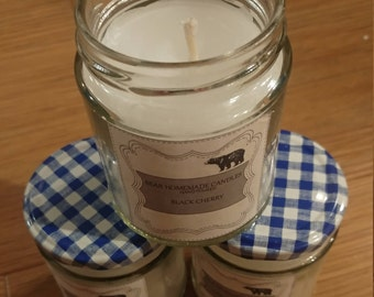 Handmade Scented Candle Black Cherry Scent