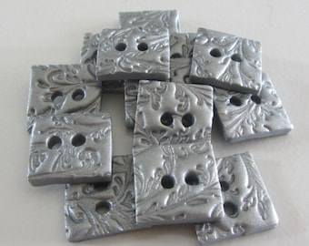 Square Filigree Buttons ~ Set of 5