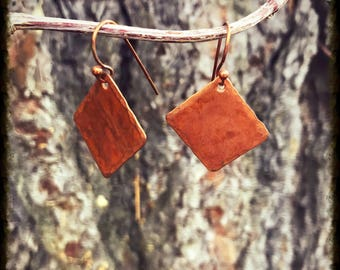 Square Copper Earrings