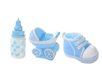 Christening or birth - set of 3 Candles candle Kit