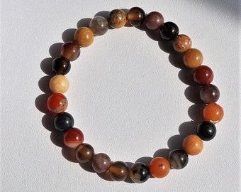 Mixed Stone Stretch Bracelet