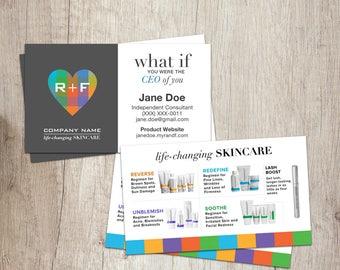 Rodan and Fields Business Cards, R and F Cards, RF, Rodan Business Card, Marketing, Branding, Printable, Digital