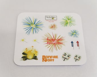 Bonfire Night Fireworks Sticker Sheet