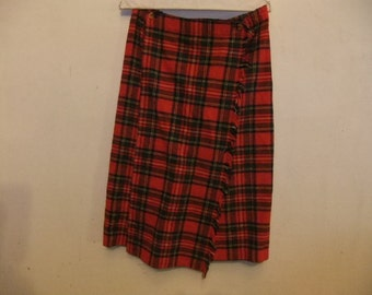 Red and Black Wrap Skirt Sz 9-10