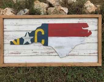 Nc flag cutout on repurposed beadboard