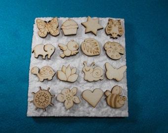 Pins, 16 pieces