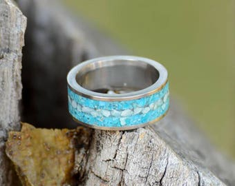 Mens larimar ring Etsy