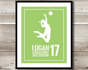 Volleyball Art,Volleyball Gift, Personalized Volleyball Print, Volleyball Wall Art, Volleyball Team Gift, Digital Print