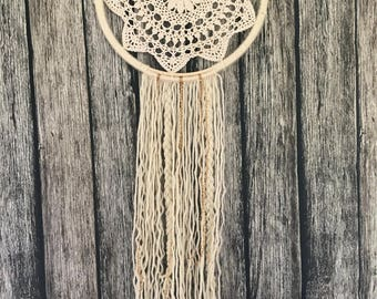 Shabby Chic Bohemian Dream Catcher for baby nursery/home decor