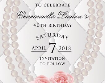 SAVE the Date Designer Inspired BIRTHDAY Party - Digital/Printable File, CC819