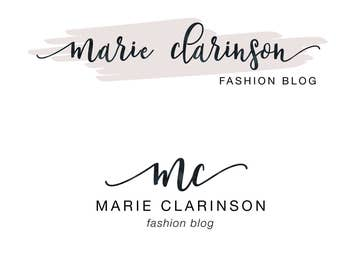 Blog logo, Premade logo, Premade logo design, Calligraphy logo, Watercolor logo, Business logo, Fashion blog logo, Blog logo kit, Blog brand
