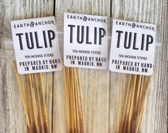 Tulip Hand-Dipped Incense || Cured by Sun in the NM Desert || Natural Incense Sticks