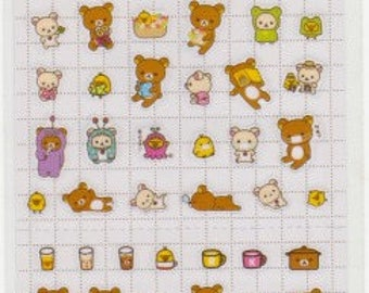 Rilakkuma Stickers - Rilakkuma Schedule Stickers - Reference A6068