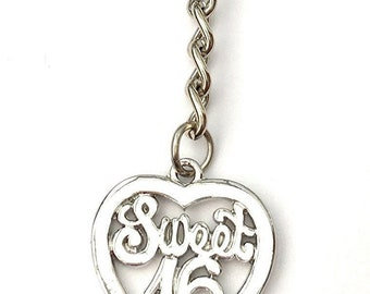 Sweet 16 sixteen keyring / bag charm in gift box