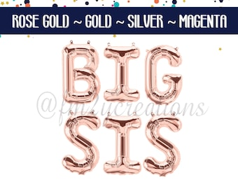 Big Sis balloons | Big Sis Banner | Big Sister Banner | Big Sister announcement | Big Sis Announcement Sign | Big Sis Pregnancy Announcement