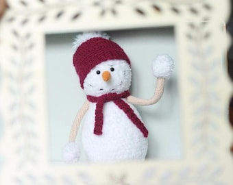 Crochet Snowman, Christmas Snowman, Amigurumi snowman, Christmas Snowman Toy, Christmas Decoration