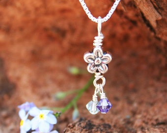 Pregnancy Loss Jewelry - Forget Me Not Pregnancy Loss Necklace