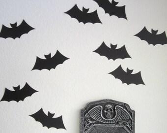 Halloween Decor - Set of 10 LARGE Black Bat Die Cuts