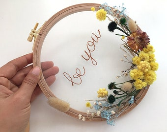 Quote Gift, Mothers Day Flower, Flower Wreath, Floral Embroidery, Mother Gift From Son, Mother Gift, Hoop Art, Grandma Gift, Flower Gift