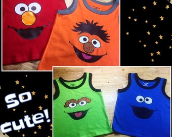 Sesame Street Inspired Toddler Tanks