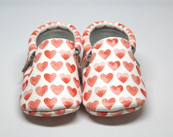 Sweet Heart Leather Moccasins | Baby Shoes