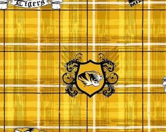 25% OFF CLEARANCE SALE University of Missouri Tiger Plaid Fabric