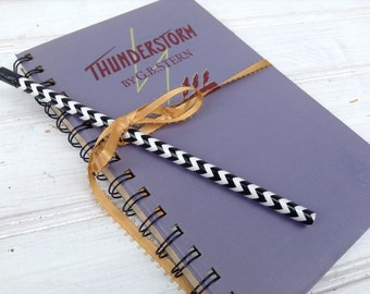 Bullet Journal, Book Journal. Lavender Purple Orchid.  Thunderstorm. Blank Journal. scrap Journal. Teacher Gift. Librarian. Guestbook, 034