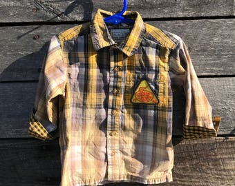 Bleached kids shirt with Girl Scout badge