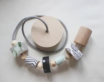 Wooden pendant light, Wooden chandelier, Wooden design lamp, Wood Mint lamp, Natural Wood lamp, Gift for her, Nursery lamp, Design lamp
