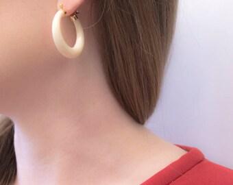 Lucite Hoop Earrings / 14k Earrings / Minimalist Jewelry / Vintage Lucite