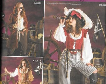Misses Pirate Costumes, Sizes 14 Thru 20, New Simplicity Pattern 3677