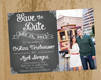 Chalkboard Style Save-the-Date- Printable