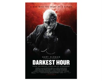 Darkest Hour Movie Poster Home Decor Office Decor Digital Prints Wall Art Gift for him Modern Wall Art Movie Prop Christmas Cinema