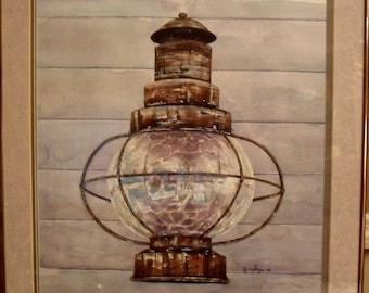 Lantern, Original Watercolor Painting