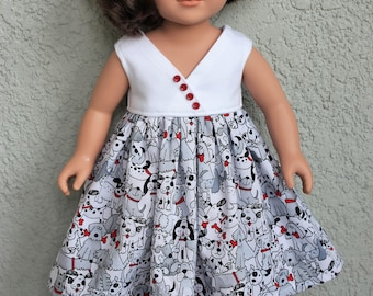 101 Puppy Dress. Fits American Girl dolls and other 18 inch dolls