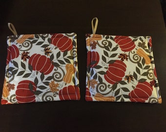 Autumn pot holders set of two