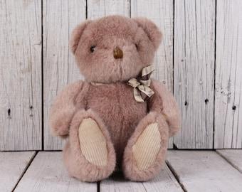 Teddy bear, Vintage teddy bear, Old teddy bear, Stuffed bear, Beige teddy bear, Kids, Boyd, Nursery decor, Stuffed animals, Gift idea