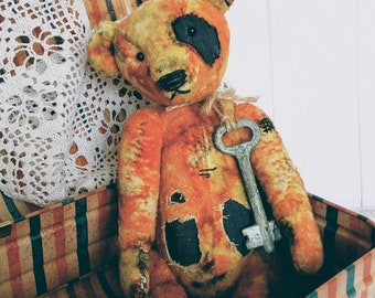 To order!Vintage teddy bear Antique teddy bear Gift her Classic teddy bear Toy attic Personalized gifts Antique toy Collectible toy Old toys