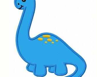 dinosaur Applique Machine Embroidery Design NO:0048