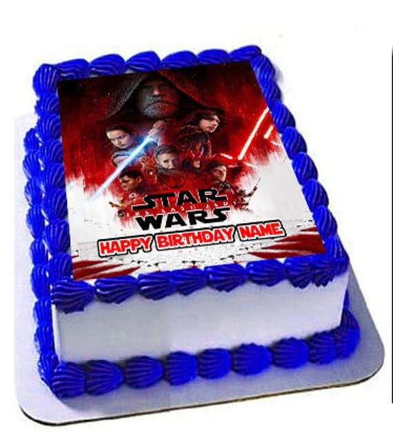 Star Wars The Last Jedi Edible Cake Topper Frosting Sheet