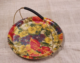 Make us an offer! Fiberglass serving tray with handle, vintage French