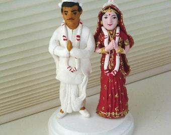 Bengali Bor Bou (bride groom) 3D Sculpture, Wedding  Cake Topper - Made to Order