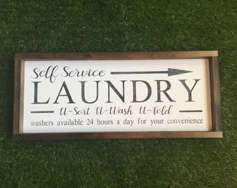 Laundry room sign - free ship-laundry- unique laundry room sign - fun laundry room sign - laundry decor