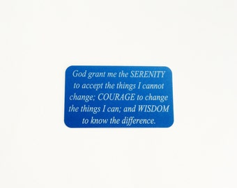 "Serenity Prayer Wallet Insert Card / ""God grant me the SERENITY..."" /Custom Wallet Card / Engraved Wallet Card"