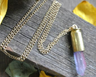 bullet and crystal necklace
