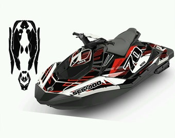 PWC Jetski graphics decals stickers kit for seadoo Spark 2UP 3UP