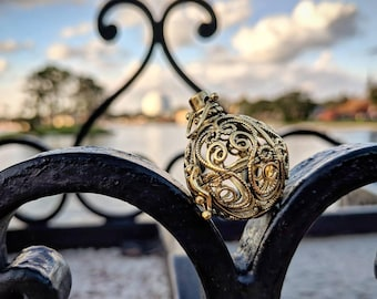 Cinderella's Carriage Disney Jewelry Pearl Cage Necklace for Pick a Pearl Disney, Pearl Cage, Cinderellas Carriage Necklace Princess Wedding