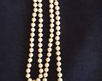 Faux Pearls with Sterling Clasp