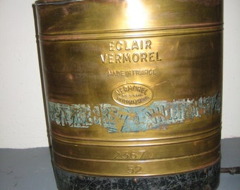 Vintage WWI French Eclair Vermorel Backpack Brass Sprayer Container - ca 1915
