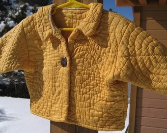 Vintage Handmade Cotton Quilt Jacket 12 to 24 Months